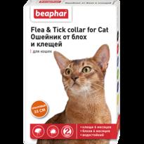 Ошейник Flea & Tick collar for Cat от блох и клещей для кошек оранжевый 35см