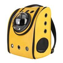 Рюкзак переноска для переноски животных экокожа жёлтый