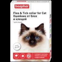 Ошейник Flea & Tick collar for Cat от блох и клещей для кошек белый 35см