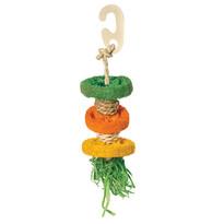 """Игрушка для птиц """"Разноцветные дольки"""", 190/240*d60мм"""