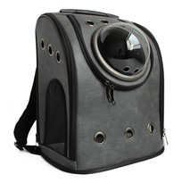 Рюкзак переноска для переноски животных экокожа черный
